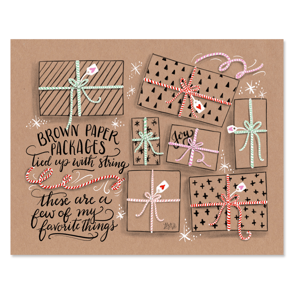 Brown Paper Packages Tied Up With String - Print