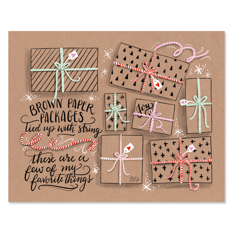 Brown Paper Packages Tied Up With String - Print & Canvas