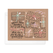 Brown Paper Packages Tied Up With String - A2 Note Card