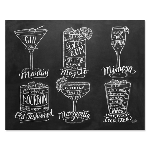 Guide to Cocktail Drinks - Print