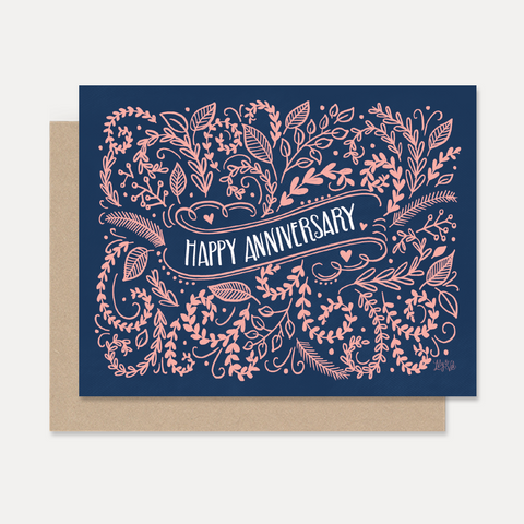 Happy Anniversary - A2 Note Card