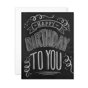 Happy Birthday To You  - A2 Note Card