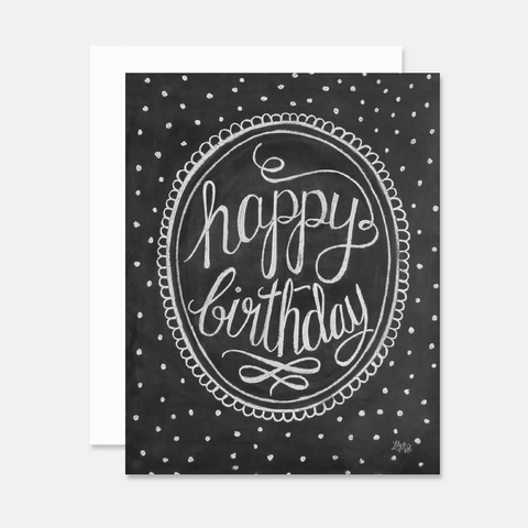 Polka-Dot Happy Birthday  - A2 Note Card