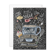Vanilla Buttercream Recipe Birthday Card  - A2 Note Card