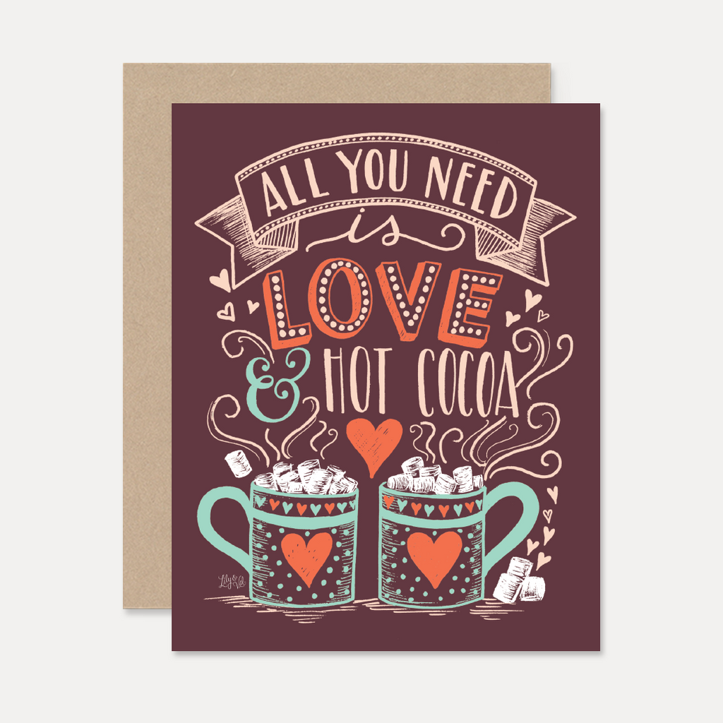 Lily Val Christmas Card Love Hot Cocoa Card Hot Cocoa Card
