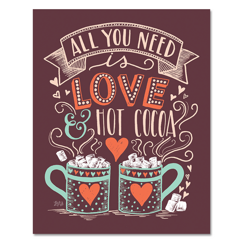 Love & Hot Cocoa - Print & Canvas