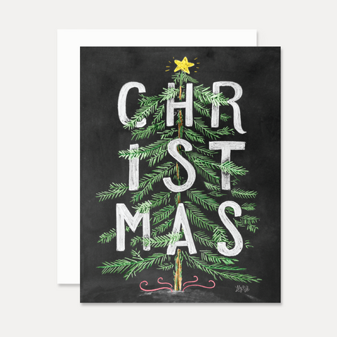 'Christmas' Tree - A2 Note Card