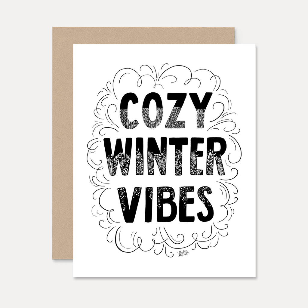 Cozy Winter Vibes - A2 Note Card