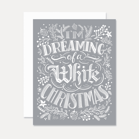 White Christmas - A2 Note Card