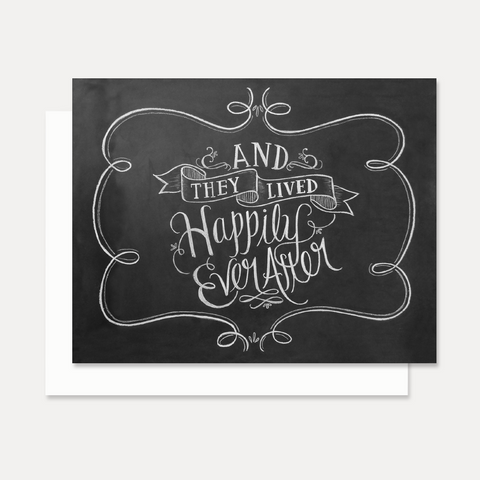 Happily Ever After - A2 Note Card