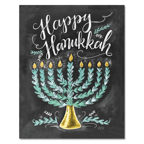 Happy Hanukkah - Print
