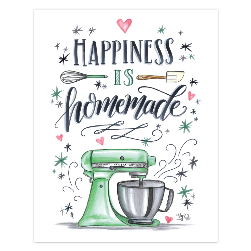 photo regarding Happiness is Homemade referred to as Contentment is Do-it-yourself - Print