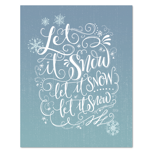 Let it Snow, Let it Snow - Print
