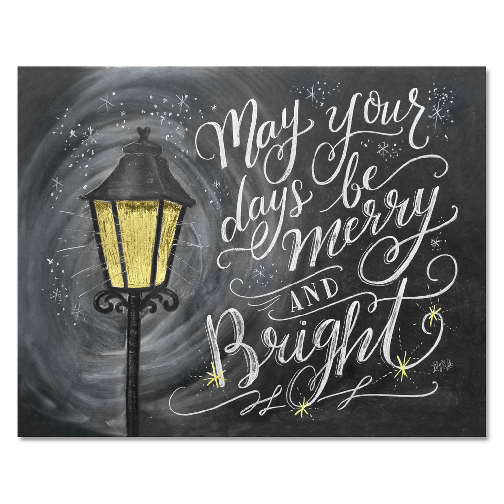 may your days be merry bright print - Christmas Wall Art Decor