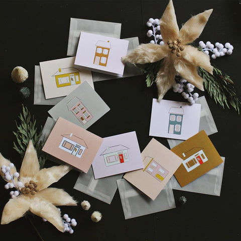 Home Sweet Home Card Set With Vellum Envelopes