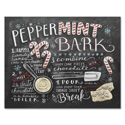 Peppermint Bark Recipe - Print & Canvas
