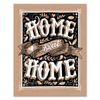 Home Sweet Home - Kraft Paper Print & Canvas