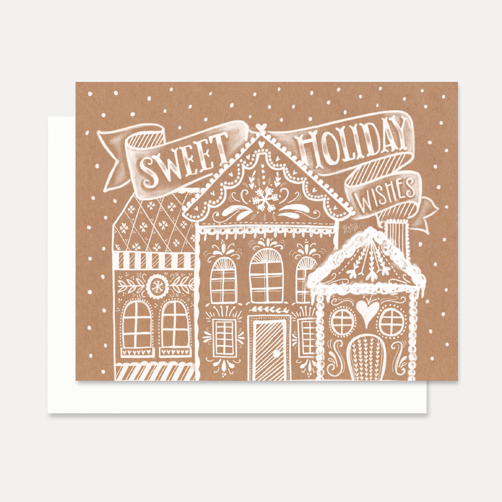 Lily Val Holiday Card Kraft Paper Christmas Card Sweet