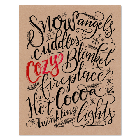 Snow Angels & Hot Cocoa - Print