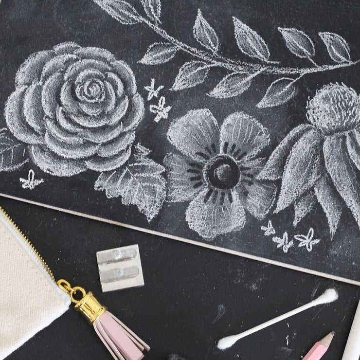 My Secrets to Drawing Chalk Flowers - How to Digital Download