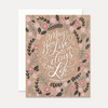 May You Live All the Days of Your Life - A2 Note Card