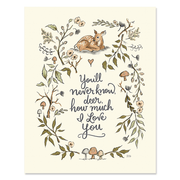 You'll Never Know Deer - Gender Neutral - Print