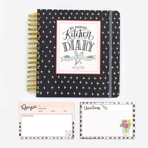 Classic Kitchen Diary & Recipe Card Bundle