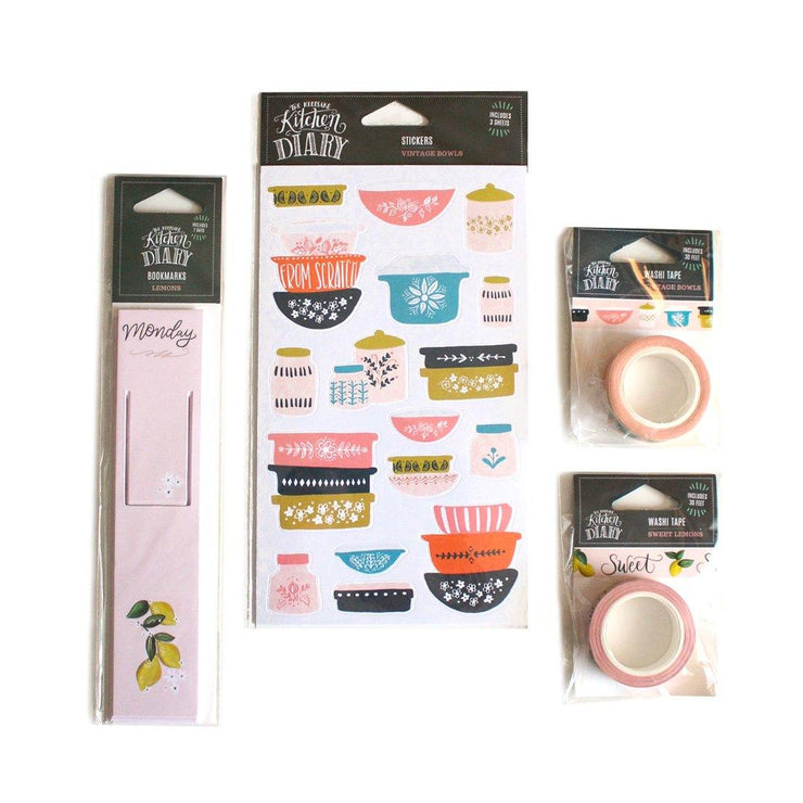Retro Lemon - Kitchen Diary Crafting Bundle