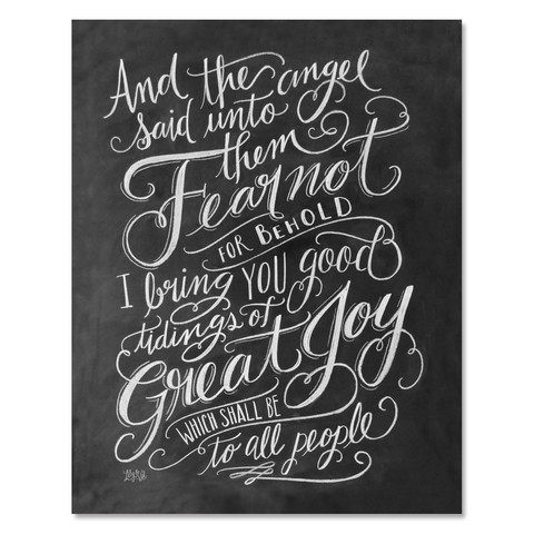 Luke 2:9 Scripture - Print & Canvas