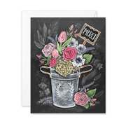 Merci Flower Bouquet - A2 Note Card