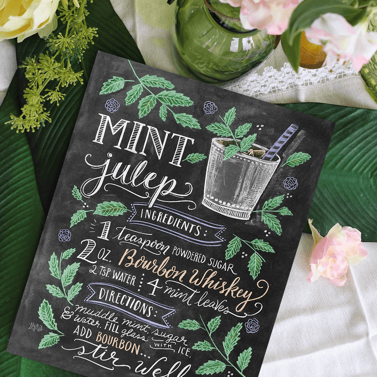 Mint Julep Cocktail Recipe - Print