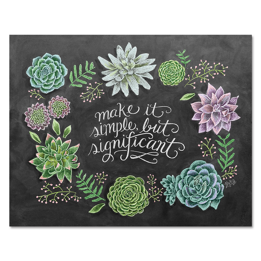 Simple Succulents - Print