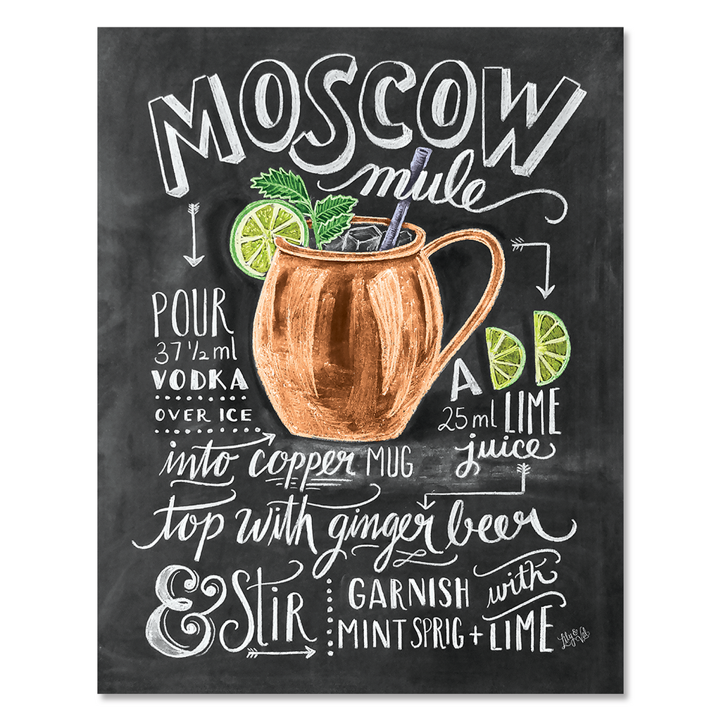 image about Moscow Mule Recipe Printable identify Moscow Mule Cocktail Recipe - Print