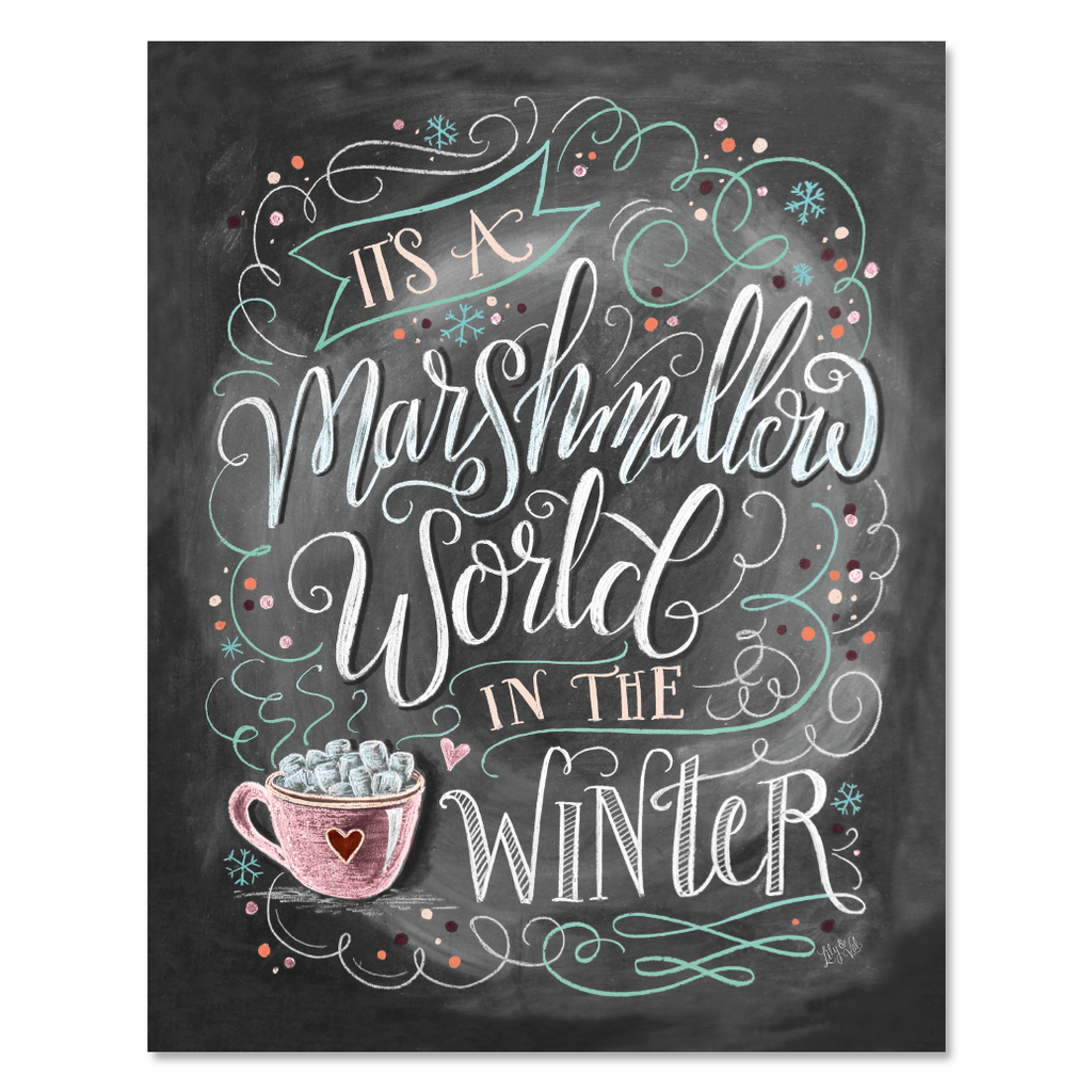 marshmallow world print