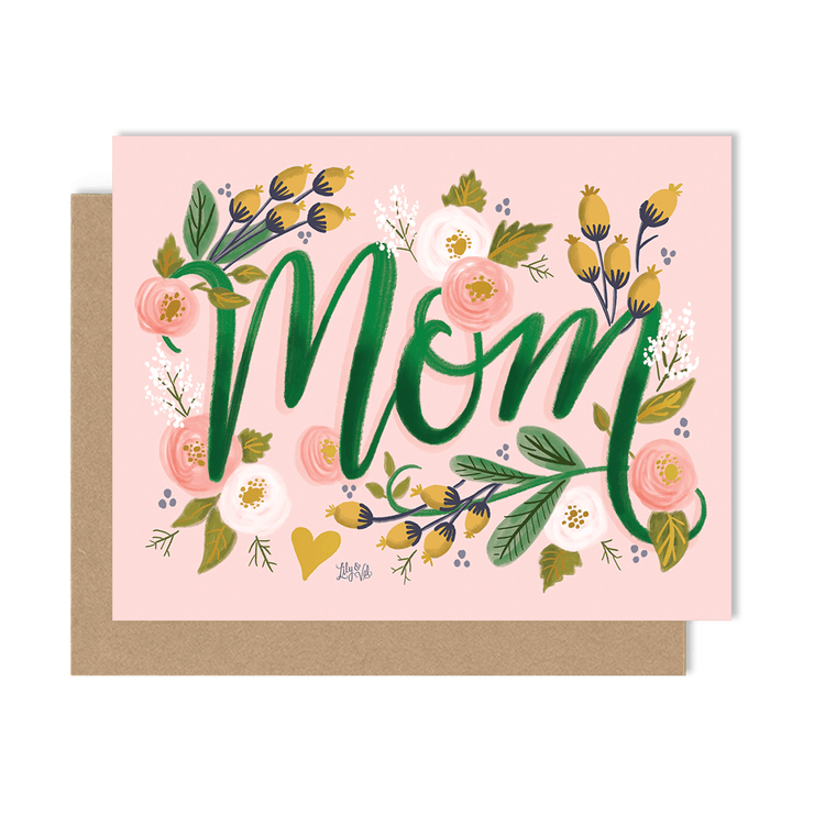 Mom - A2 Note Card