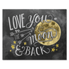 Love You to the Moon & Back Color - Print & Canvas