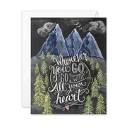 Wanderlust Card - A2 Note Card