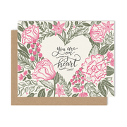 You're On My Heart - A2 Note Card