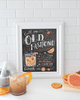 Hand-illustrated Old Fashioned recipe for your bar cart decor