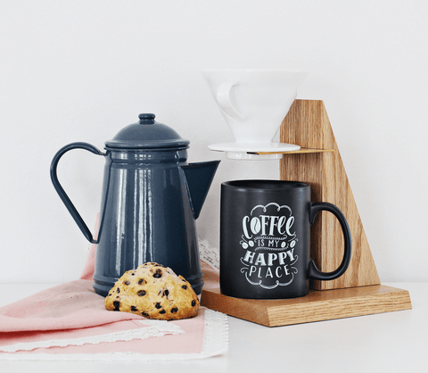 Coffee Is My Happy Place - Stoneware Mug