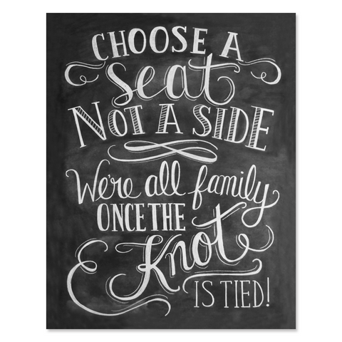 Choose a Seat Not a Side - Print & Canvas