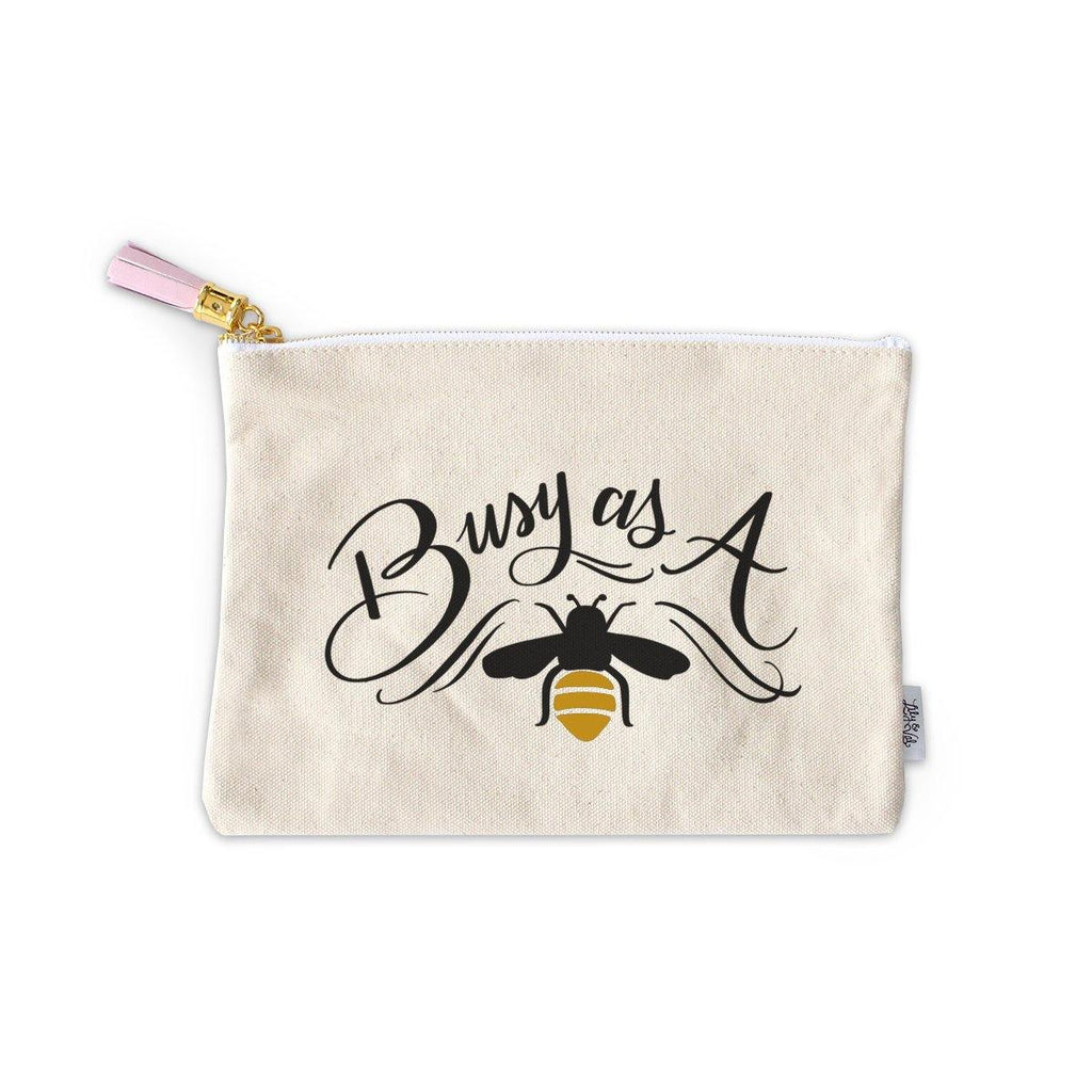 Busy As A Bee Zippered Pouch