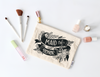 Bridal party maid of honor make-up bag