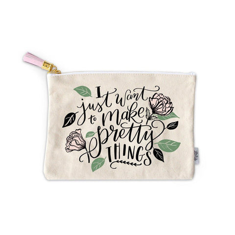 Make Pretty Things Zippered Pouch
