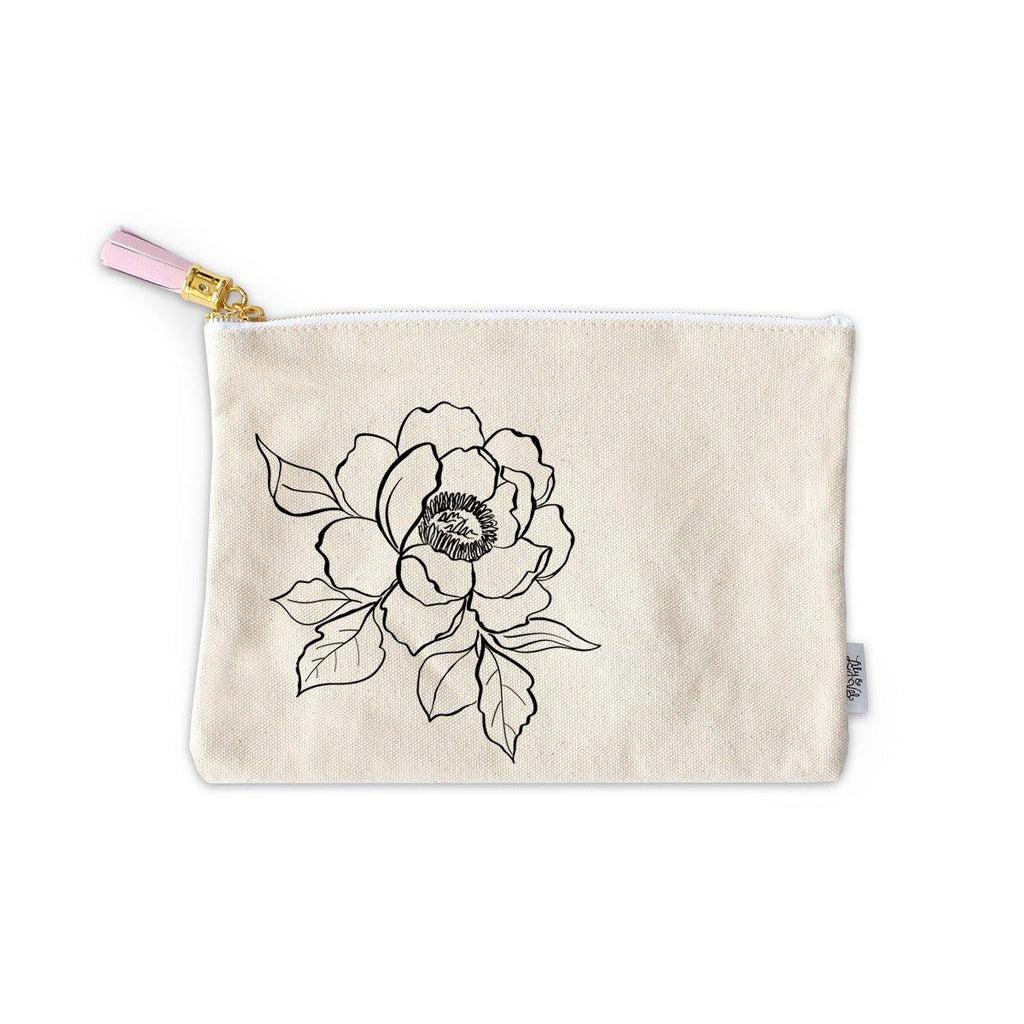 Peony Zippered Pouch