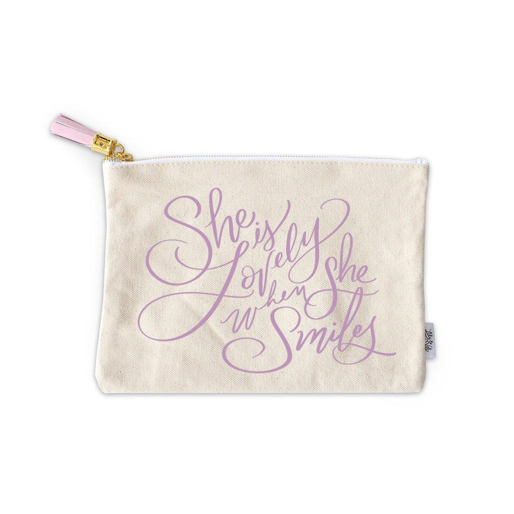When She Smiles Zippered Pouch