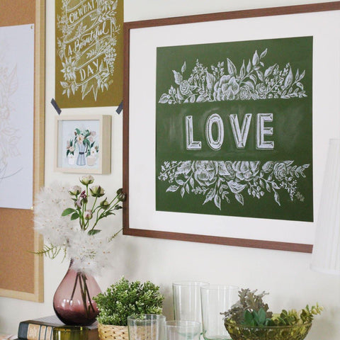 Green With Love - Print