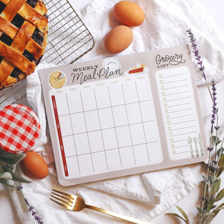 Cherry Pie Meal Planner Pad & Grocery List