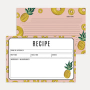 Pineapple Recipe Card Pack