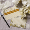 Mustard Floral Recipe Card Pack